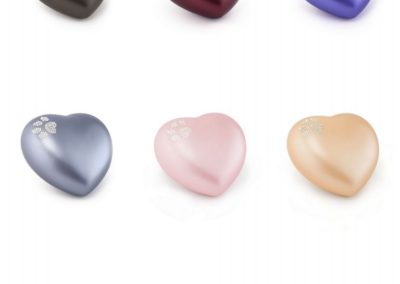 Keramiek hart met Swarovski pootafdruk