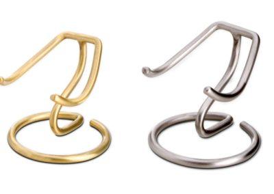 Standaard zilver- of goudkleurig voor messing hartjes (klein en groot)