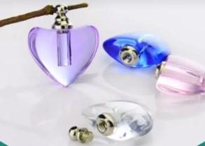 Glazen hartje in 4 kleuren