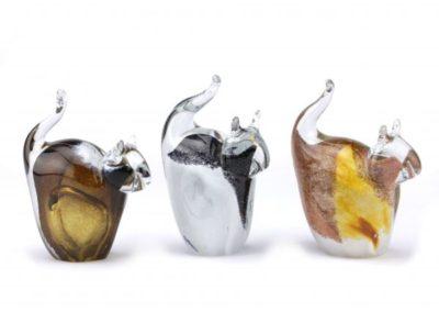 Glazen As-poes (gedenk-ornament)