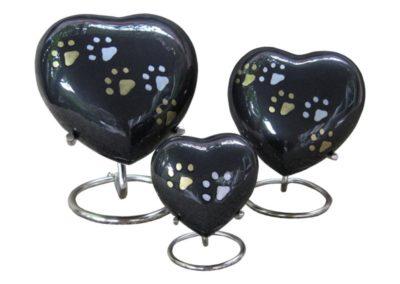 Aluminium hart met gouden en/of zilver kleurige pootjes